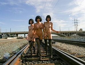 BrittanyAndrews/Graffiti Girls Train Yard
